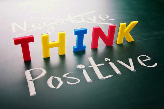 Think Positive colourful Image