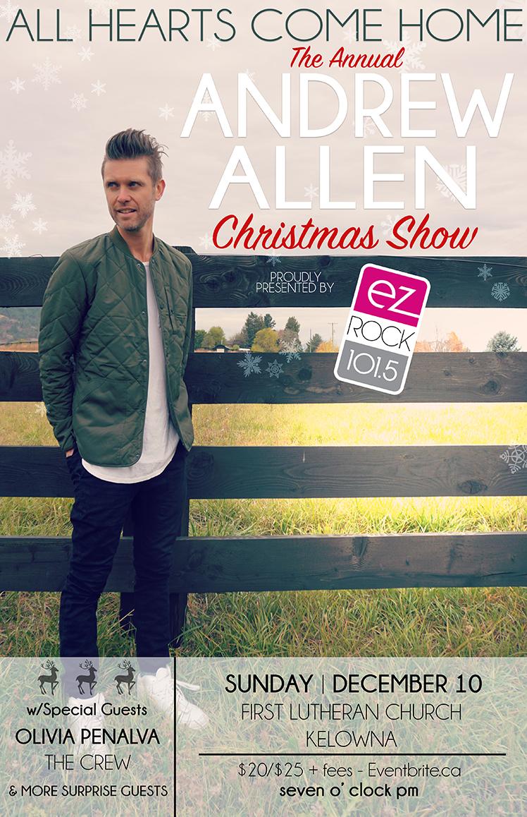 Andrew Allen Concert Poster