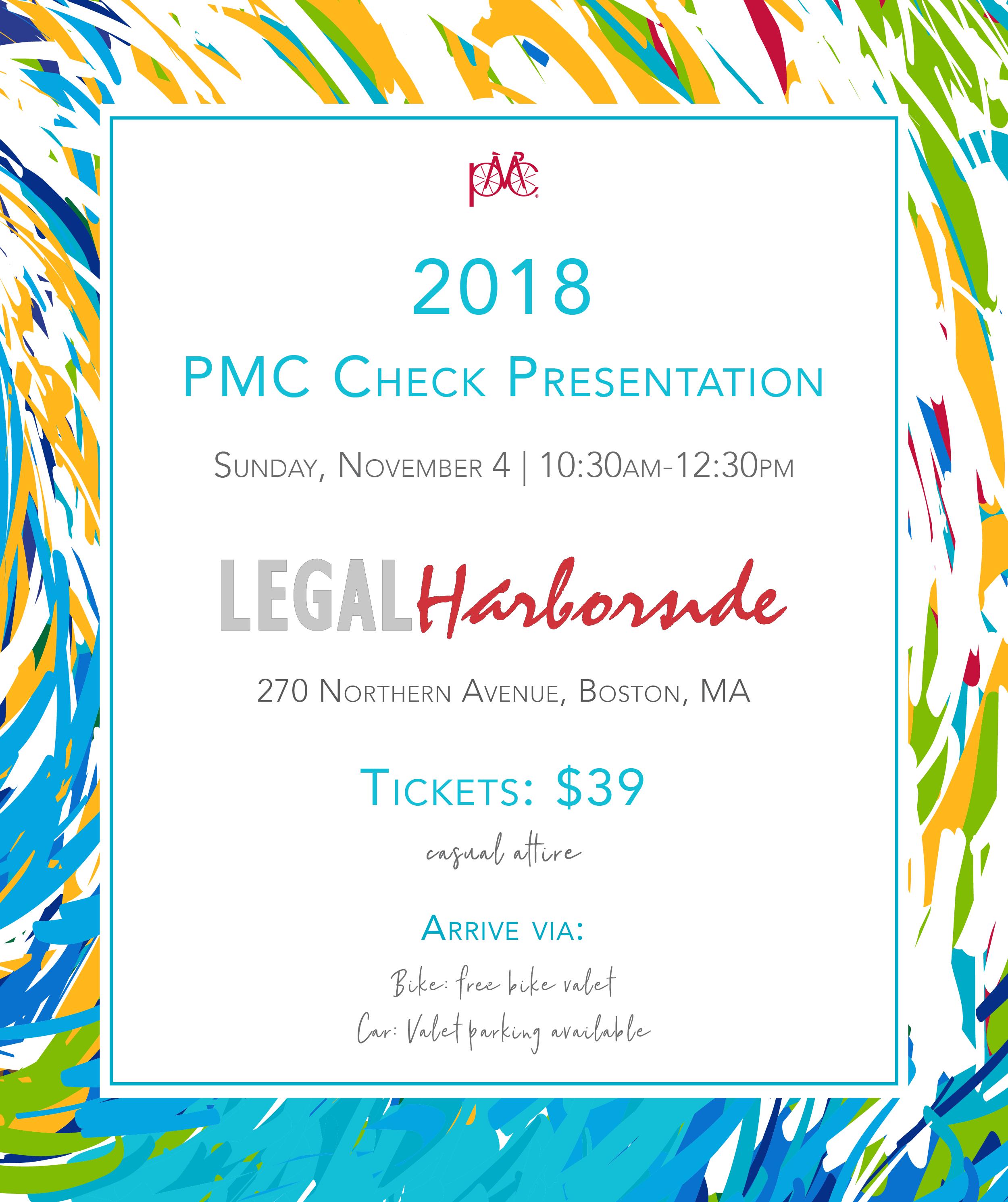 2018 PMC Check Presentation at Legal Harborside