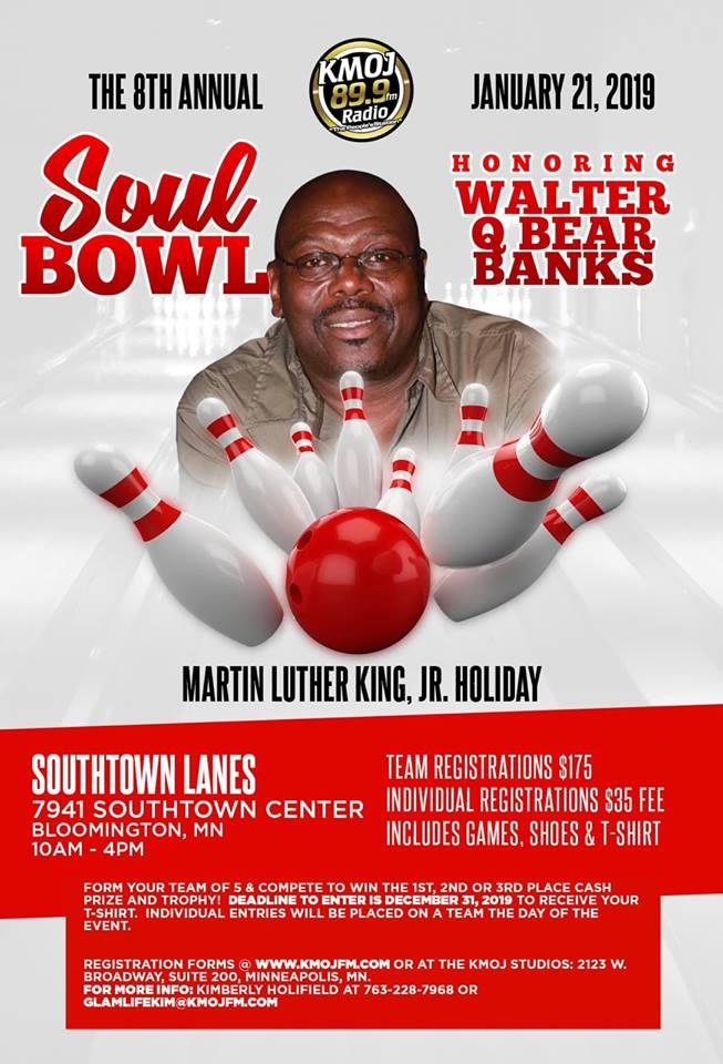KMOJ's 8th Annual Soul Bowl Flyer