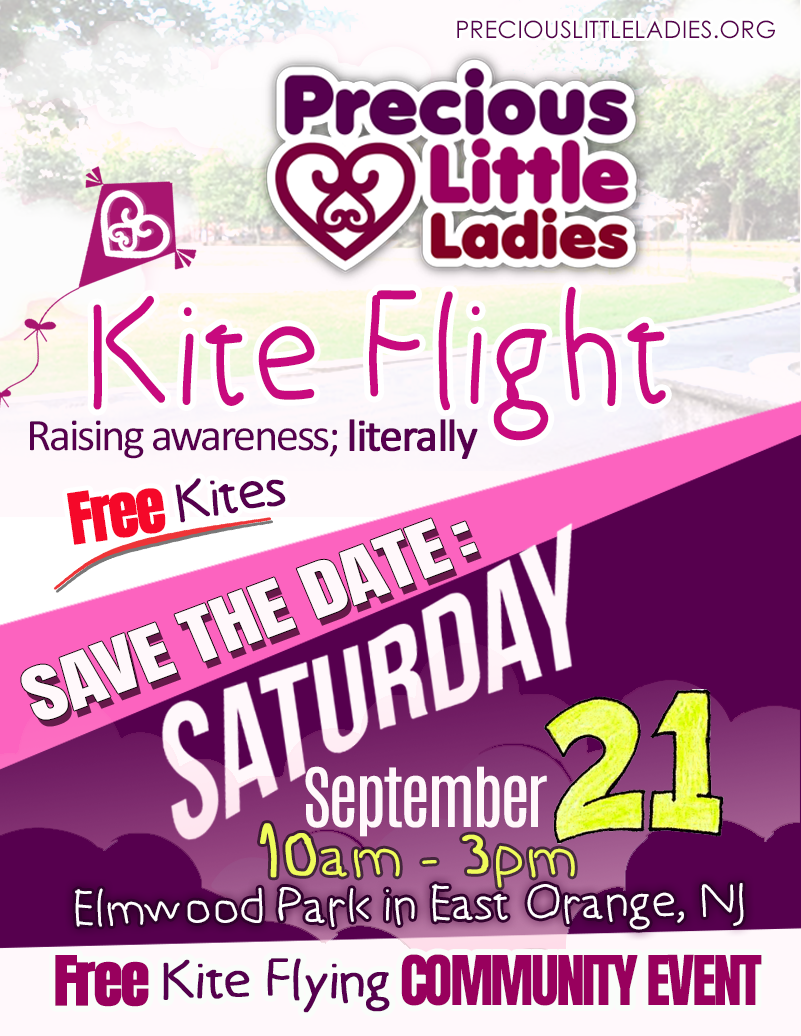 First flyer for the save the date of PLL kite flight