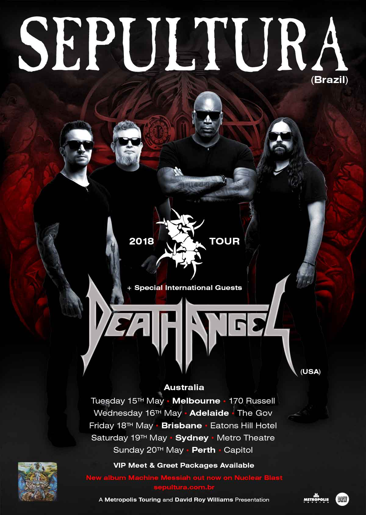 sepultura death angel australia
