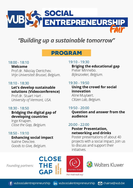 Program of the Social entrepreneurship Fair event