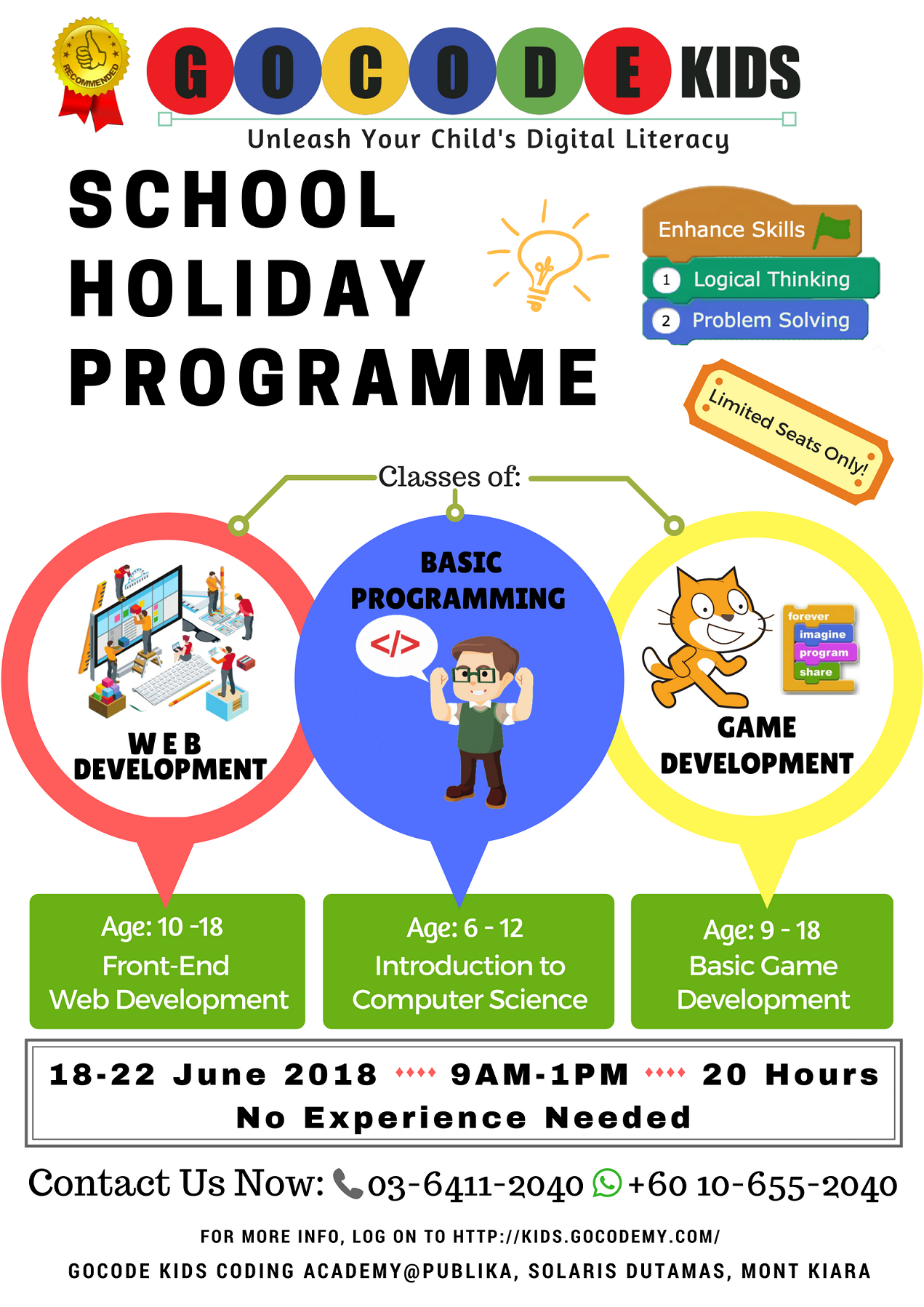 2018 Mid-Year School Holiday Programme