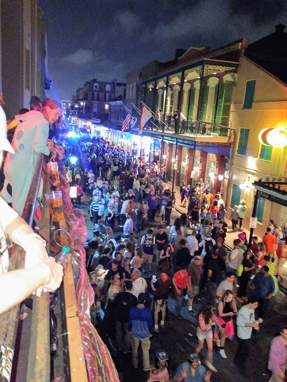 Bienville Street from the Balcony at Bourbon Cowboy