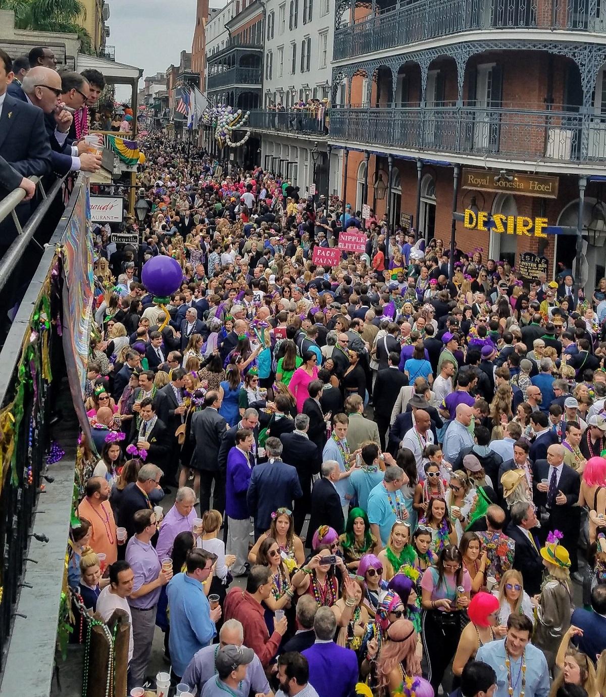 Mardi Gras Balcony Guests