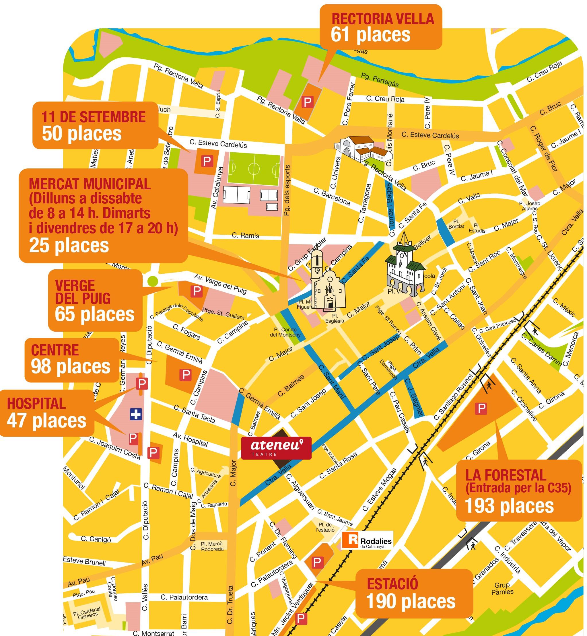 Mapa de Sant Celoni
