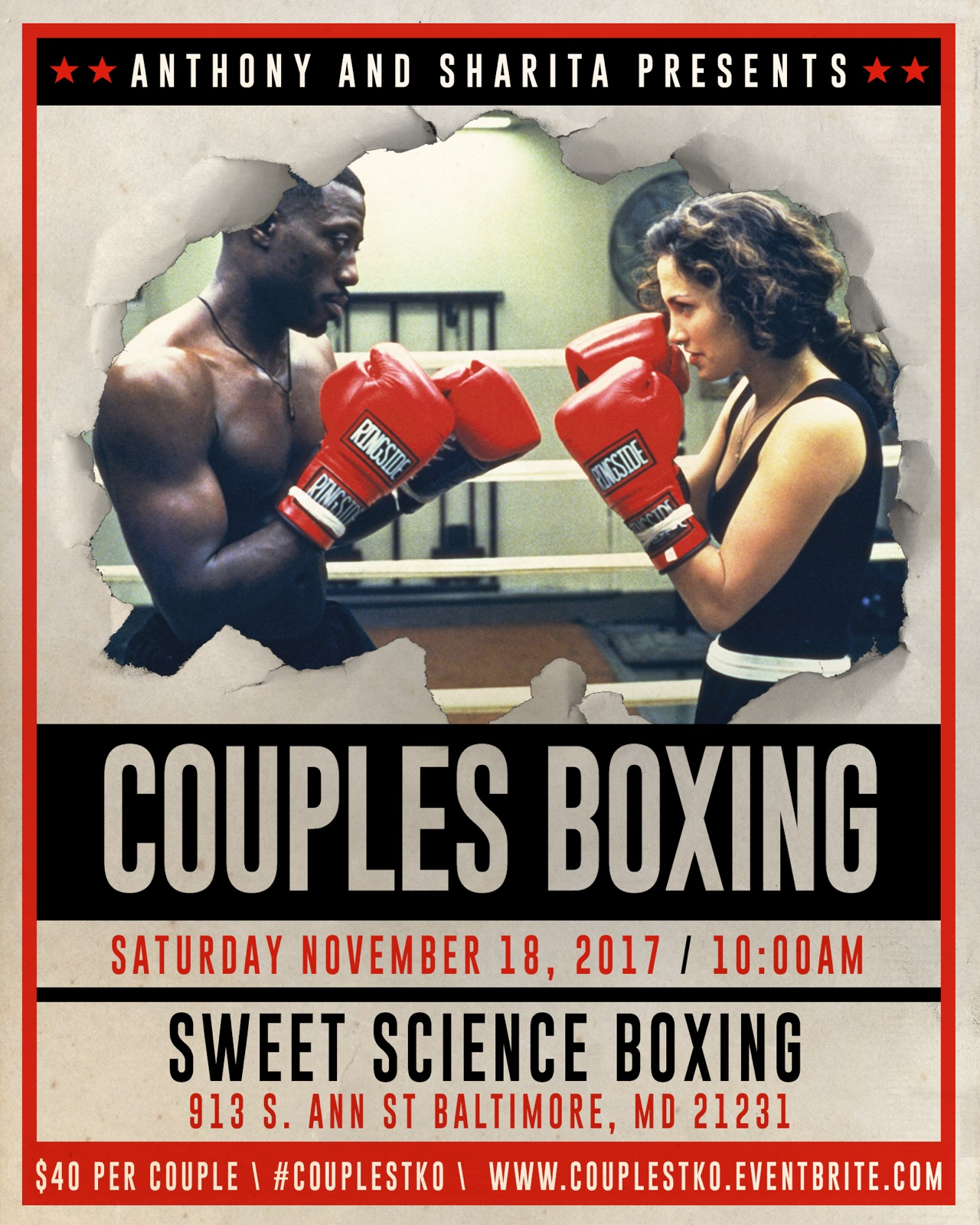 Couple Boxing Flyer