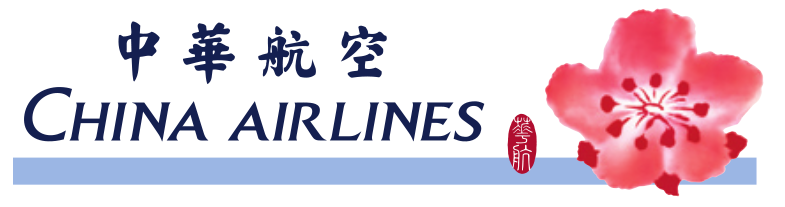 China Airlines Logo w Flower Motif