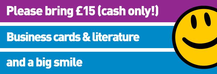 Bring £15 cash