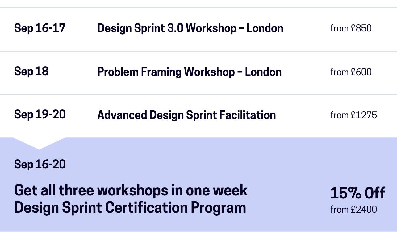 Design Sprint Certification Program