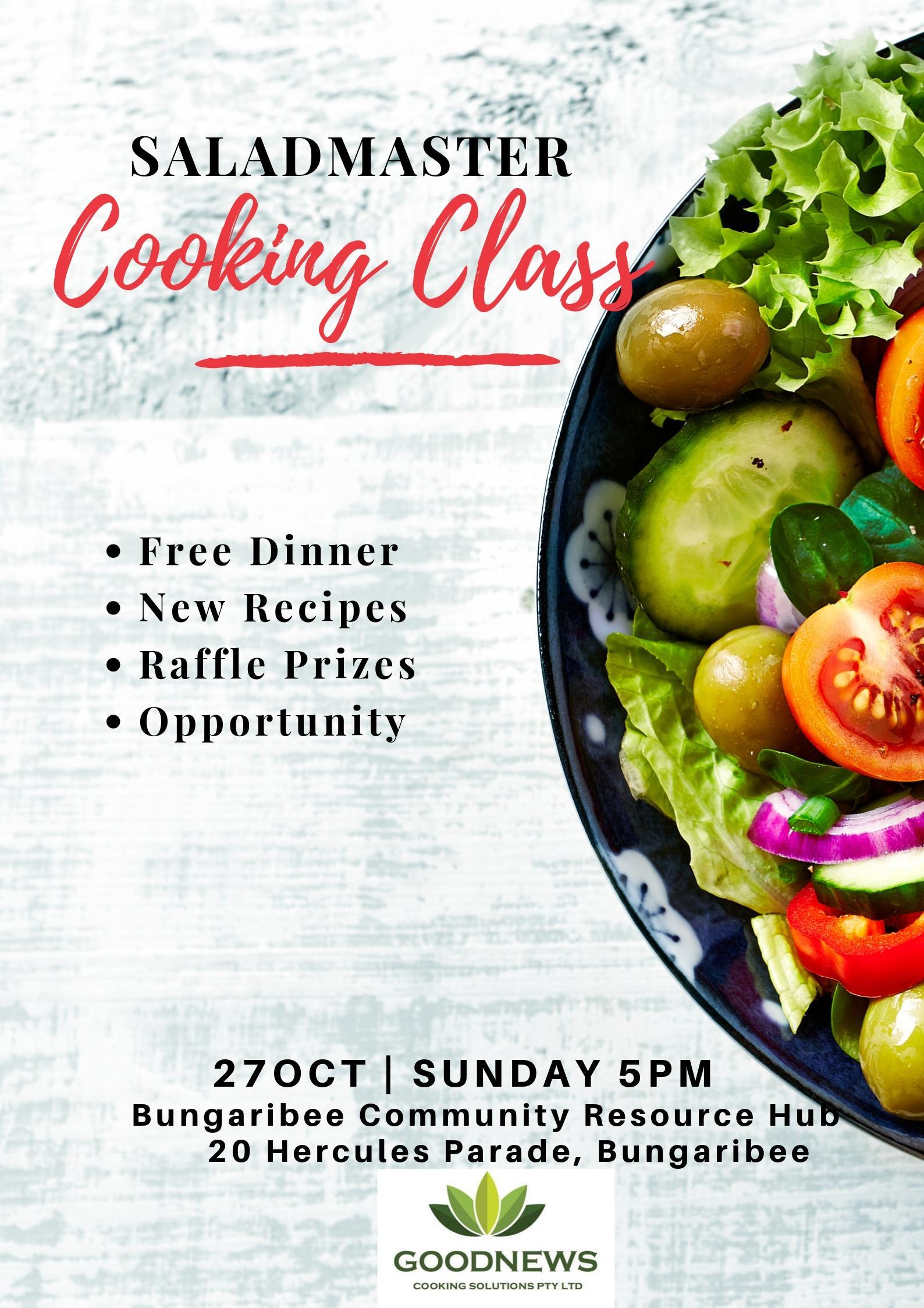 Saladmaster Cooking Class Invitation