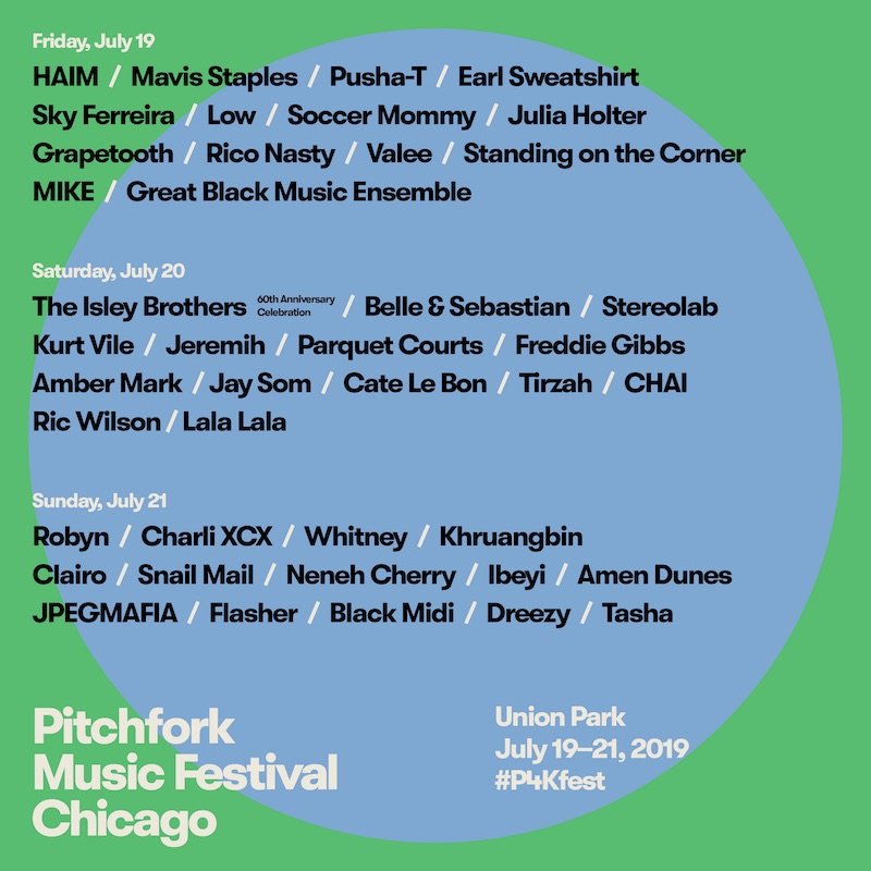 Pitchfork 2019 Lineup