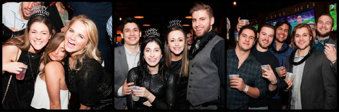 Old Crow Wrigleyville New Year's Eve Party Picture Collage