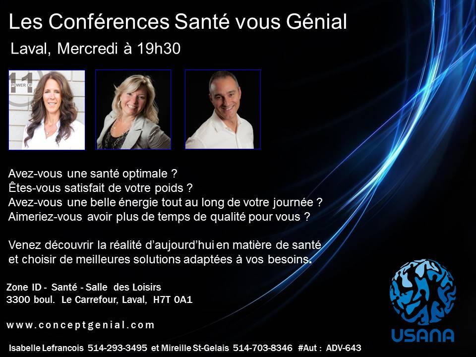 Conference Sante vous genial