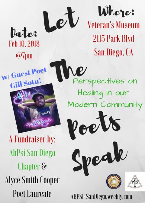Let The Poet's Speak Fundraiser Flyer