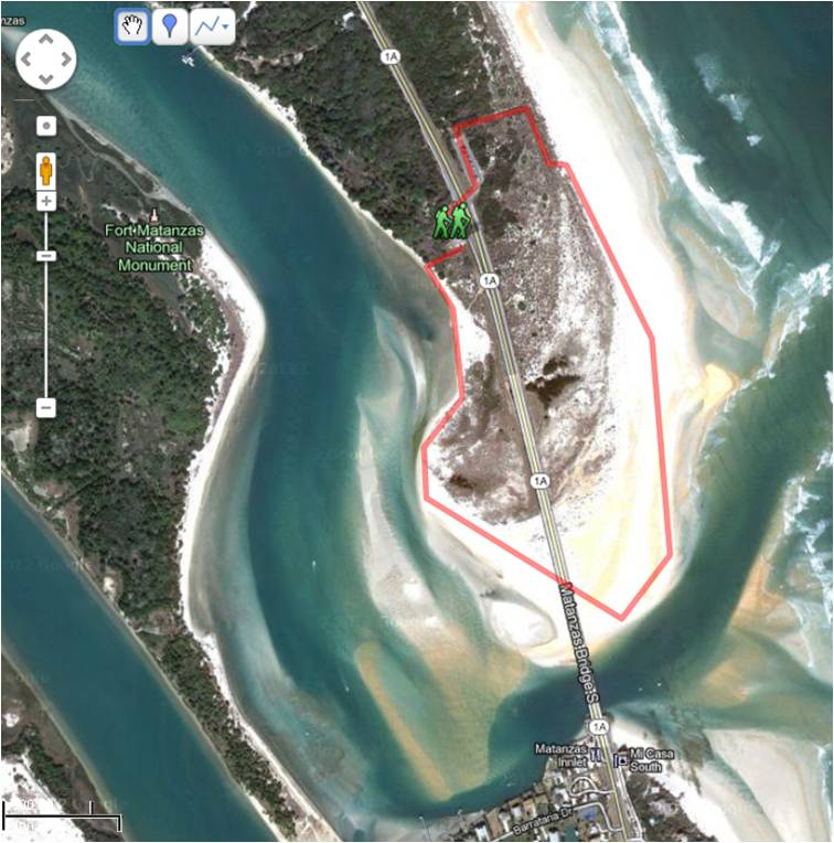 Map of Matanzas Inlet Hike