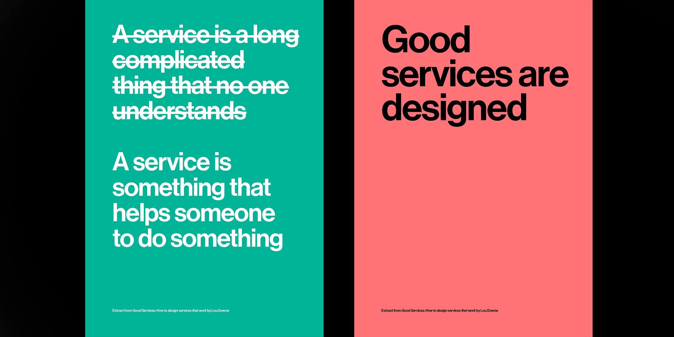 Good Services Posters