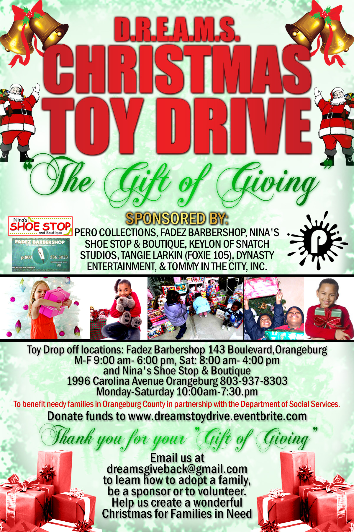 Toys For Tots Logo Flyer : Dreams mas toy drive tickets thu dec at