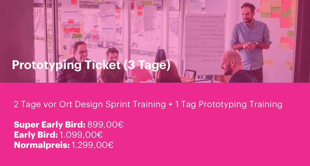 Design Sprint Training Prototyping Ticket