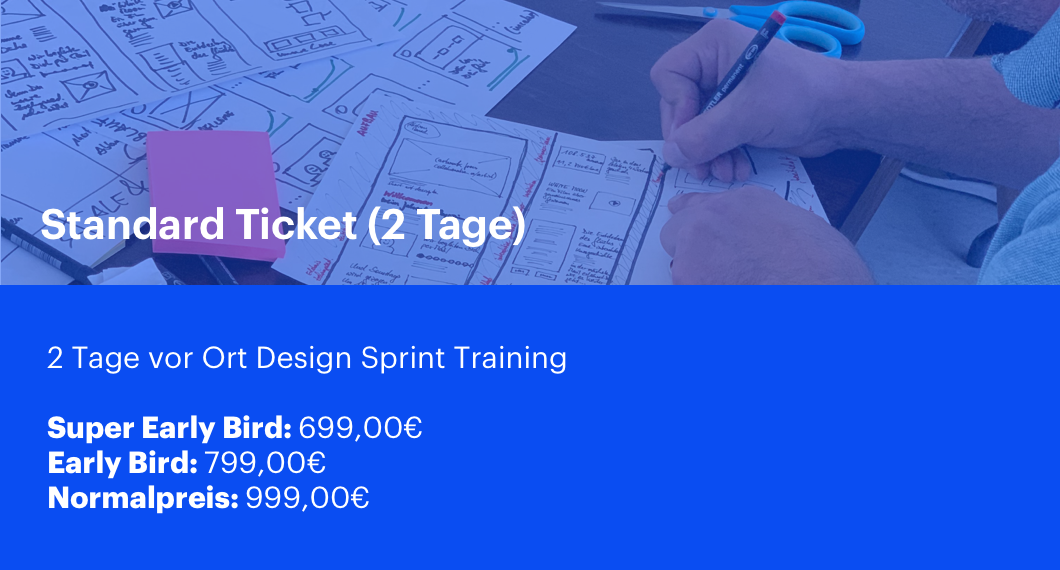 Design Sprint Training Standard Ticket