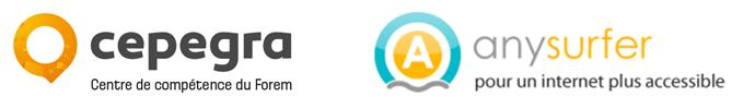 logo du Cepegra + logo de Anysurfer