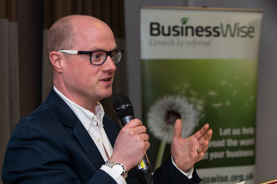 James Phipps, CEO of Excalibur Communications at the first BusinessWise Networking Evening
