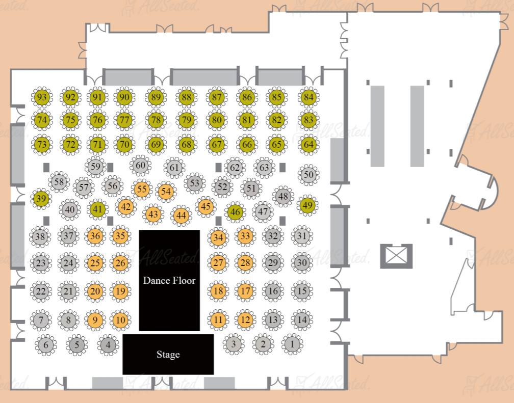 New Year's Eve - Hotel Sofitel Floor Plan