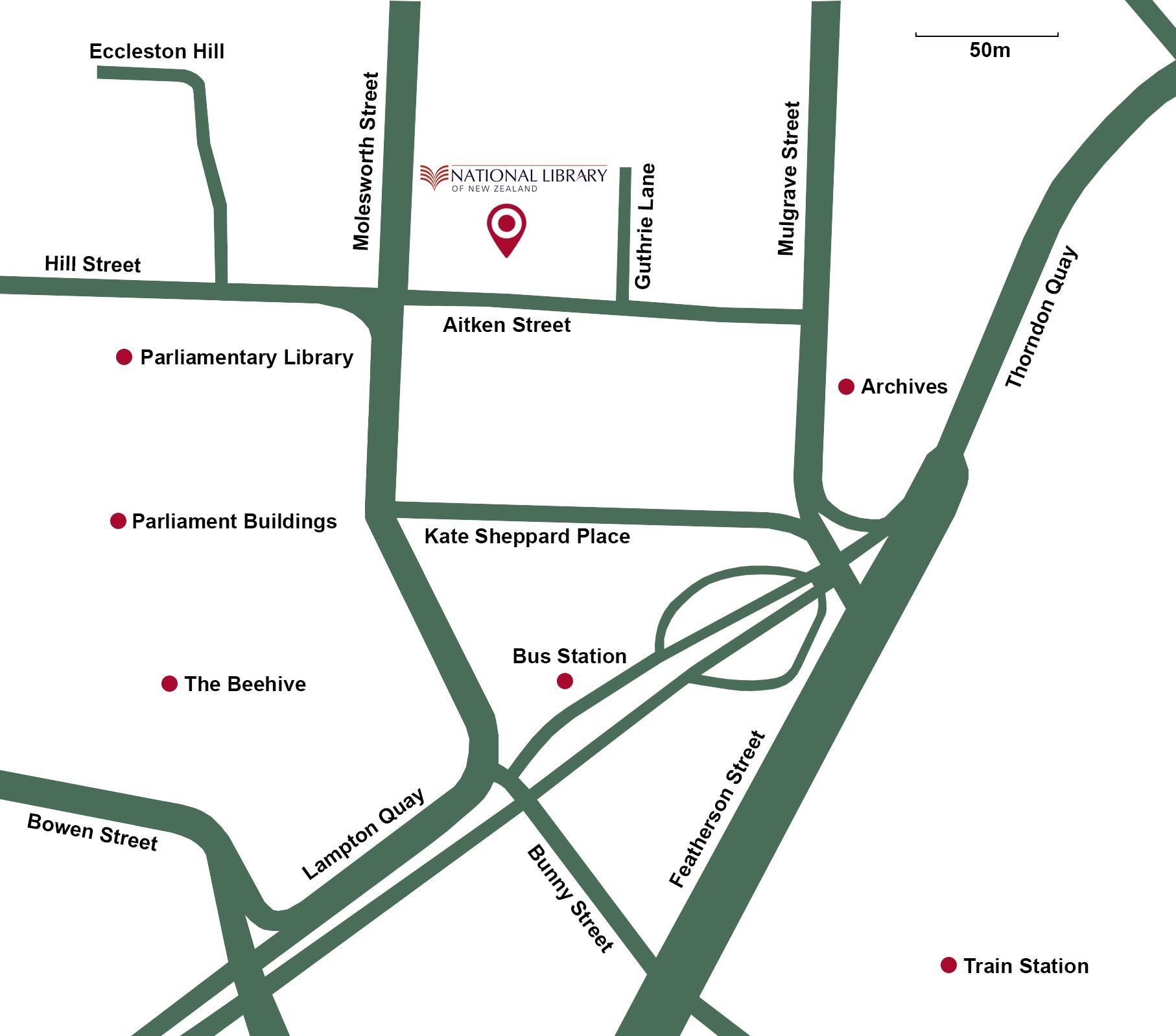 Tiakiwai Map