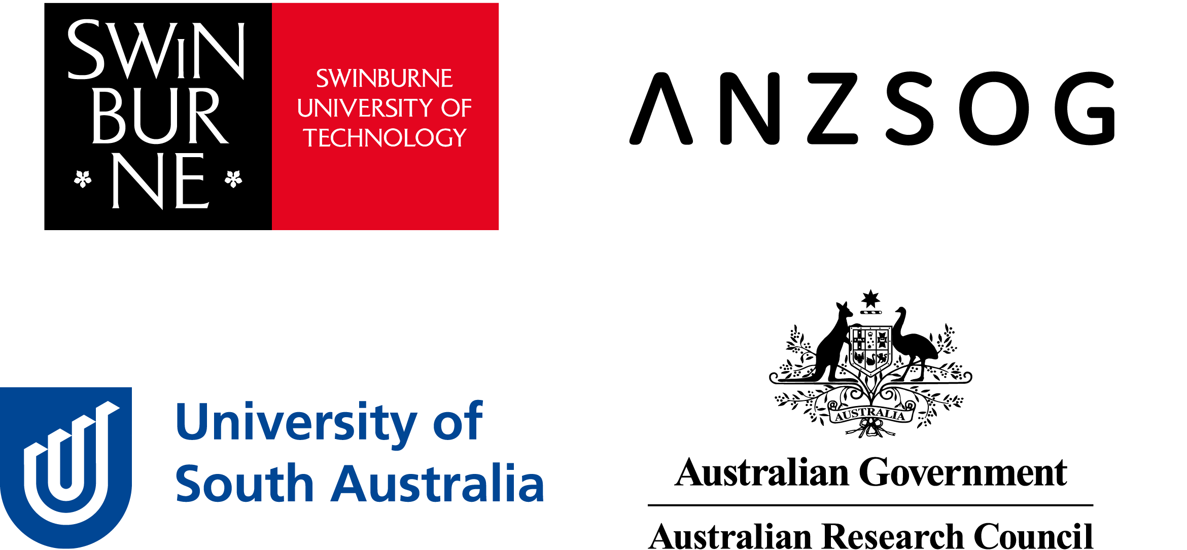 Swinburne ANSOG UniSA ARC Logos