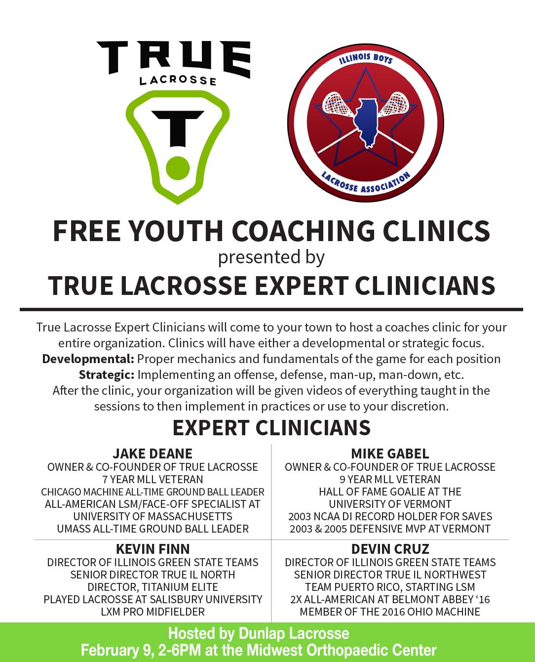 True Lacrosse Coach Clinic description