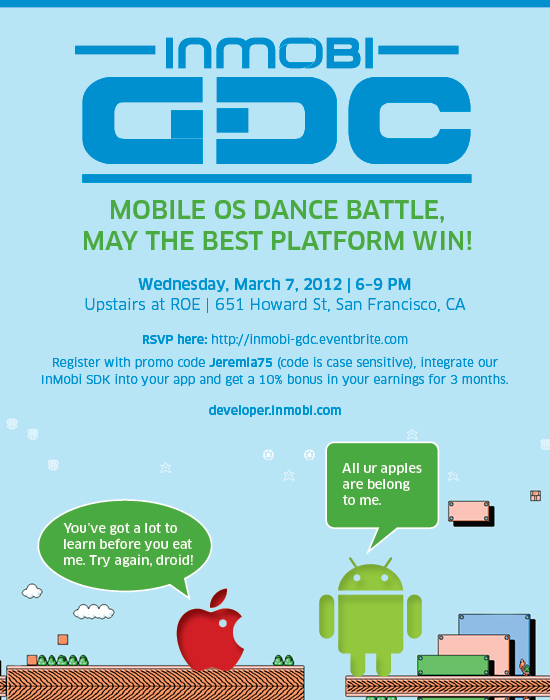 InMobi GDC party flyer