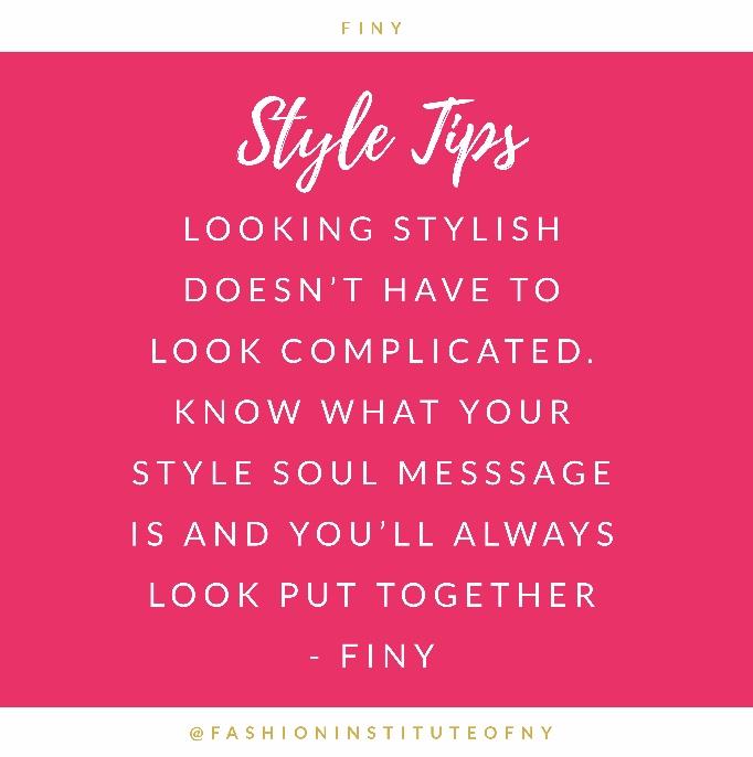 @FashionInstituteofNY Style Tips