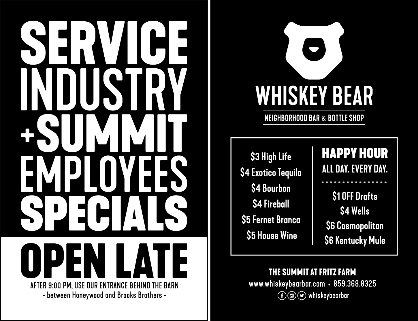Service Industry + Summit Employees Specials