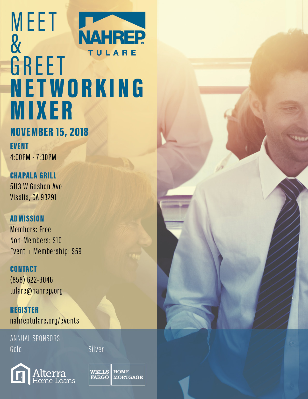 Nahrep tulare meet greet networking mixer tickets thu nov 15 attention nahrep members please click get tickets then click on blue link top right corner enter promotional code type in your email address m4hsunfo
