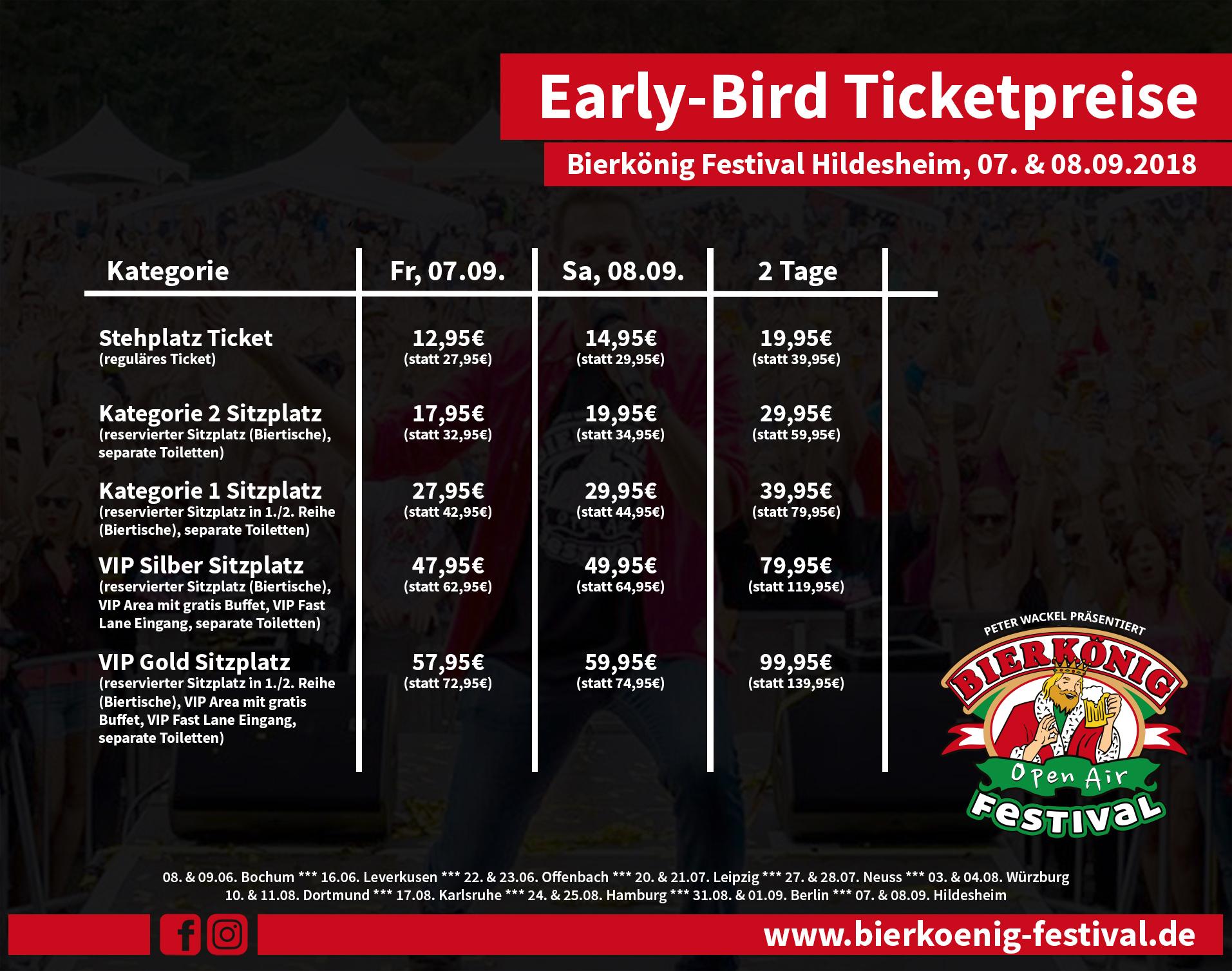 Ticketpreise Hildesheim