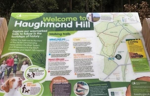 Haughmond Hill Walking Map