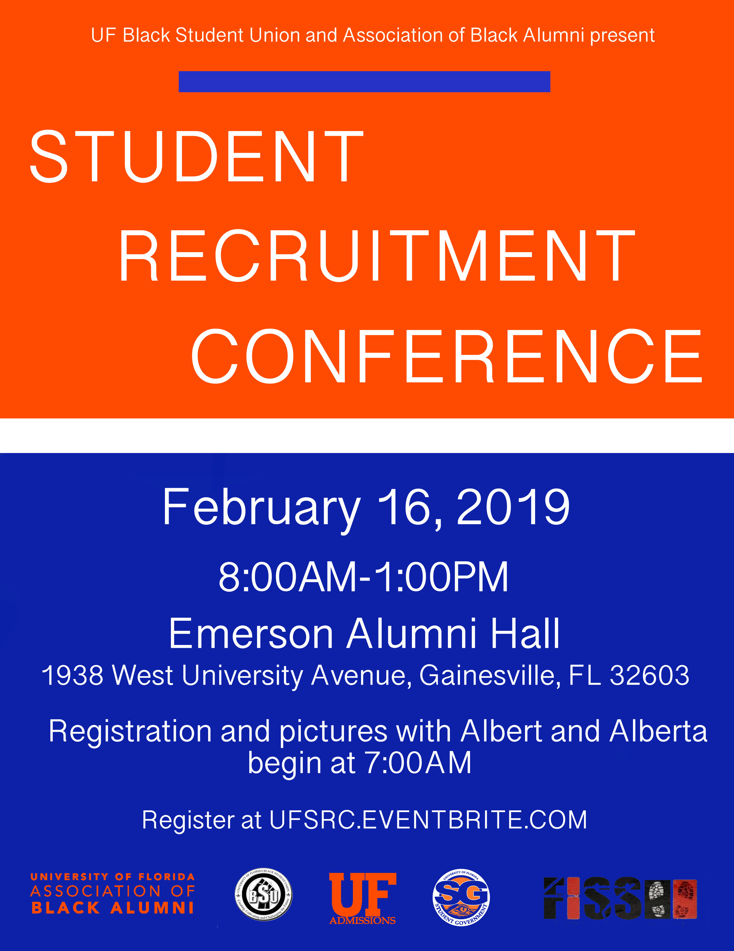 UF Black Student Union and Association of Black Alumni Present Student Recruitment Conference on February 16, 2019 at 7 AM