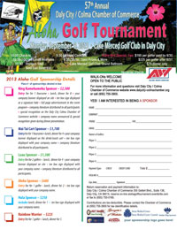 57th Annual Daly City - Colma Chamber of Commerce Aloha Golf Tournament Monday September 9, 2013