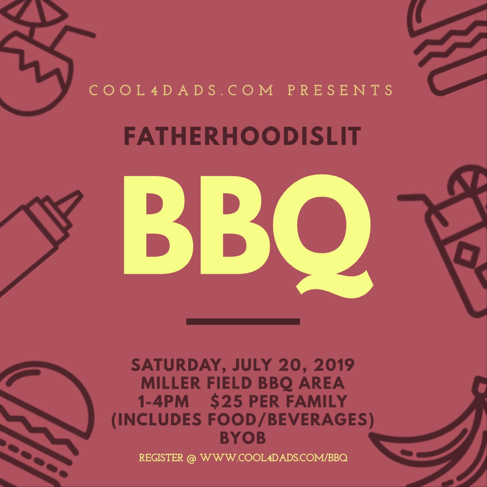 Fatherhood Is Lit BBQ