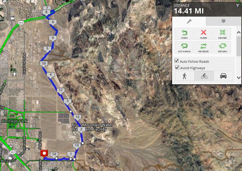 14.4 Mile Ride