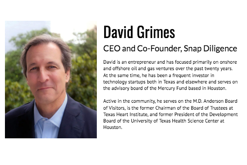 David Grimes CEO and Co-Founder Snap Diligence