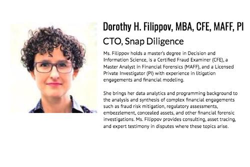Dorothy Filippov CTO Snap Diligence