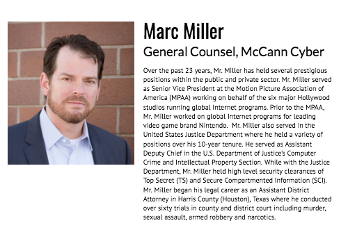 Marc Miller General Counsel McCann Cyber