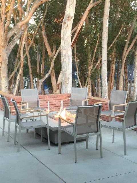 Outdoor venue fireplace