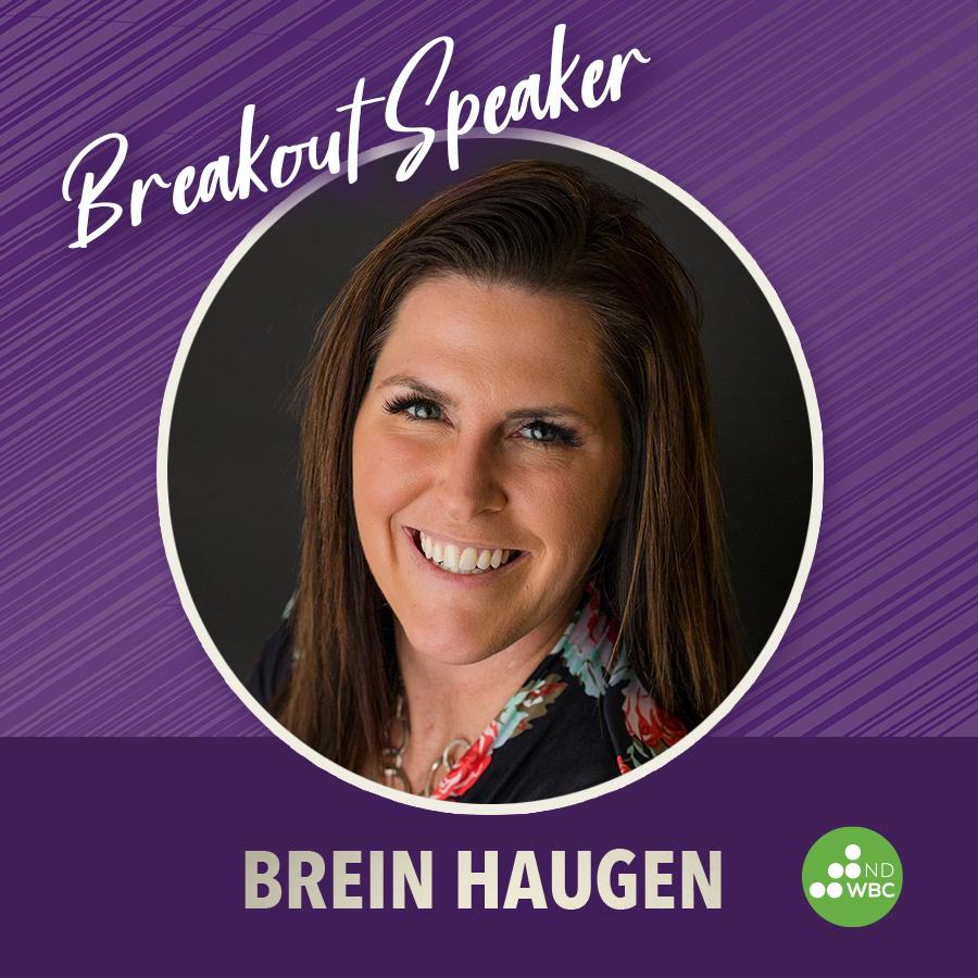 Breakout speaker Brein Haugen
