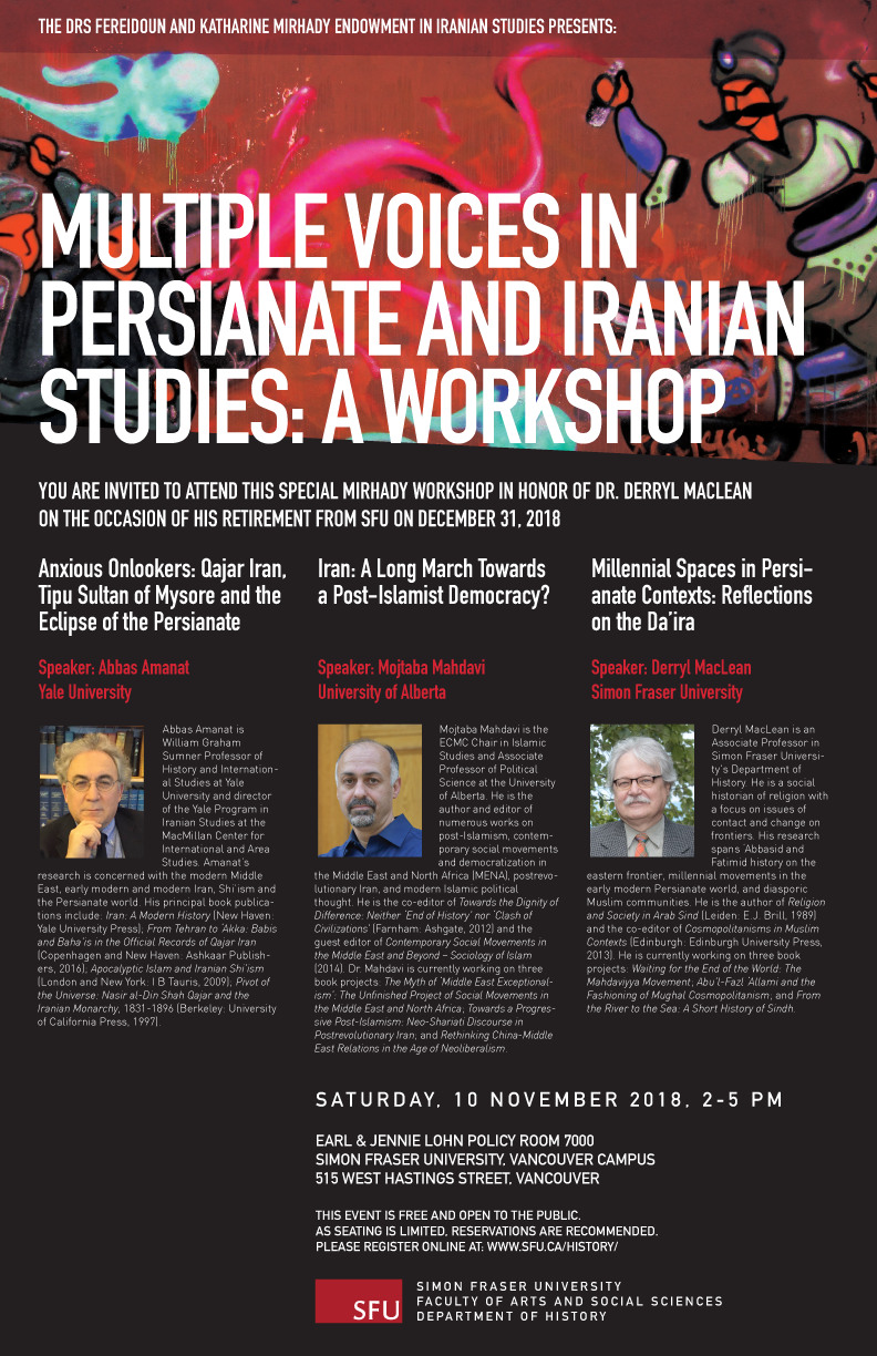 Multiple Voices in Persianate and Iranian Studies: A Workshop