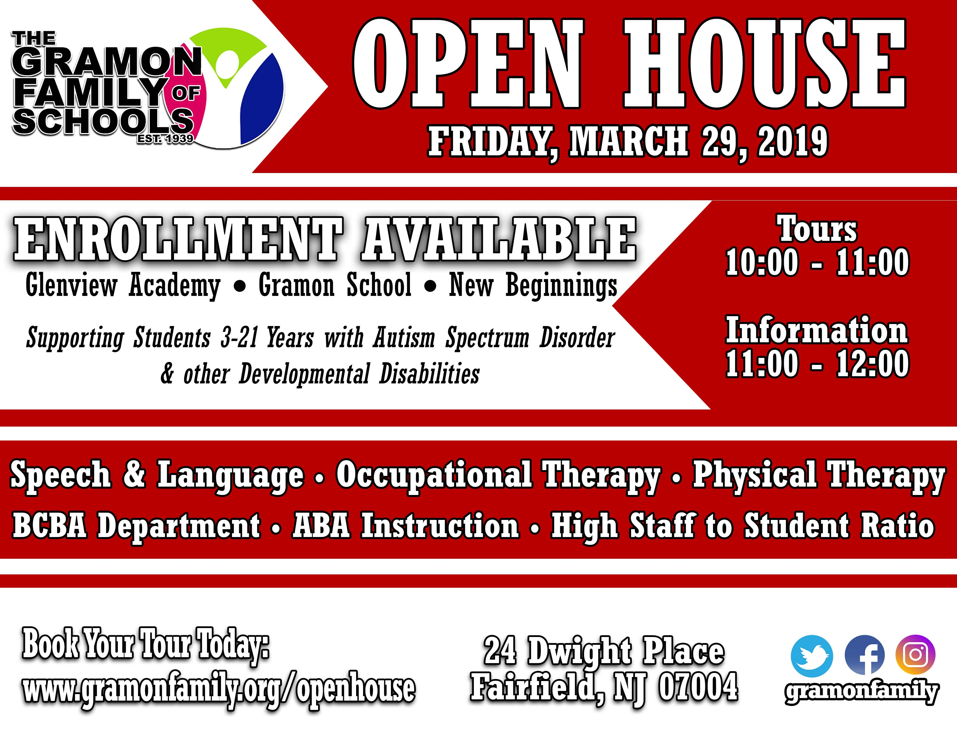 The Gramon Family of Schools OPEN HOUSE 2019