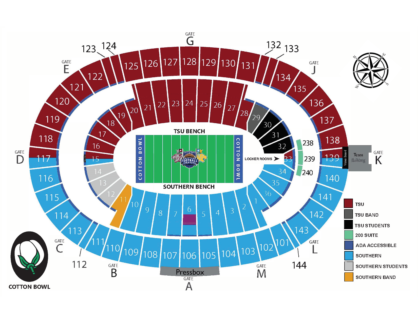 State Fair Football Showdown Seating Chart