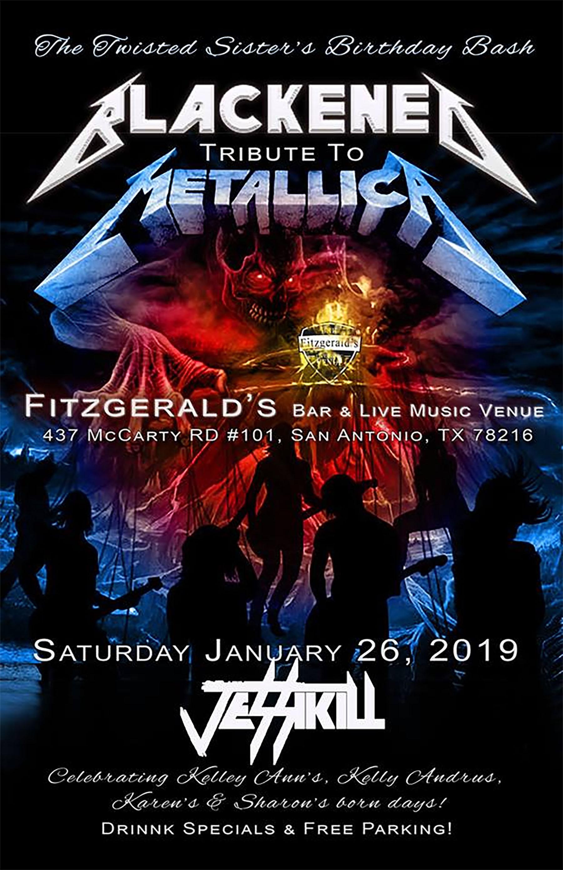 Blackened Metallica trib and Jessikill